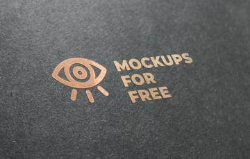Free Logo texture mockup