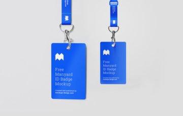 Free badge mockup