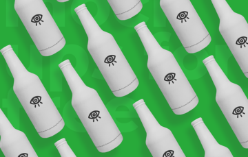 White Beer Bottle Mockup