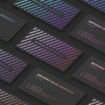 business cards grid mockup